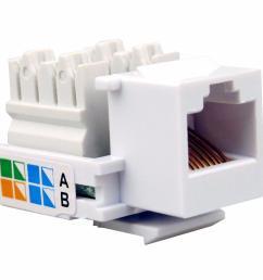 2019 kuyia 100x rj45 network keystone jack cable wall adapter plug cat5e lan plastic module from charless 55 57 dhgate com [ 1000 x 1000 Pixel ]