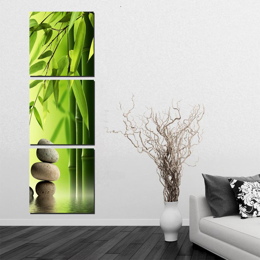 painting for living room feng shui lounge chair canada 2019 atfipan 3p bamboo on wall canvas landscape pictures home decor modular picture from lienal