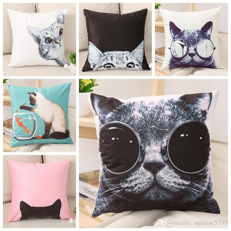 cool cat cushion cover