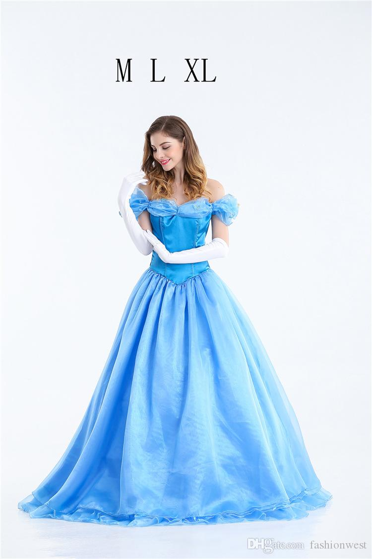 Princess Dress Halloween Costume Cinderella Adult Princess Costume Evening Dress For The