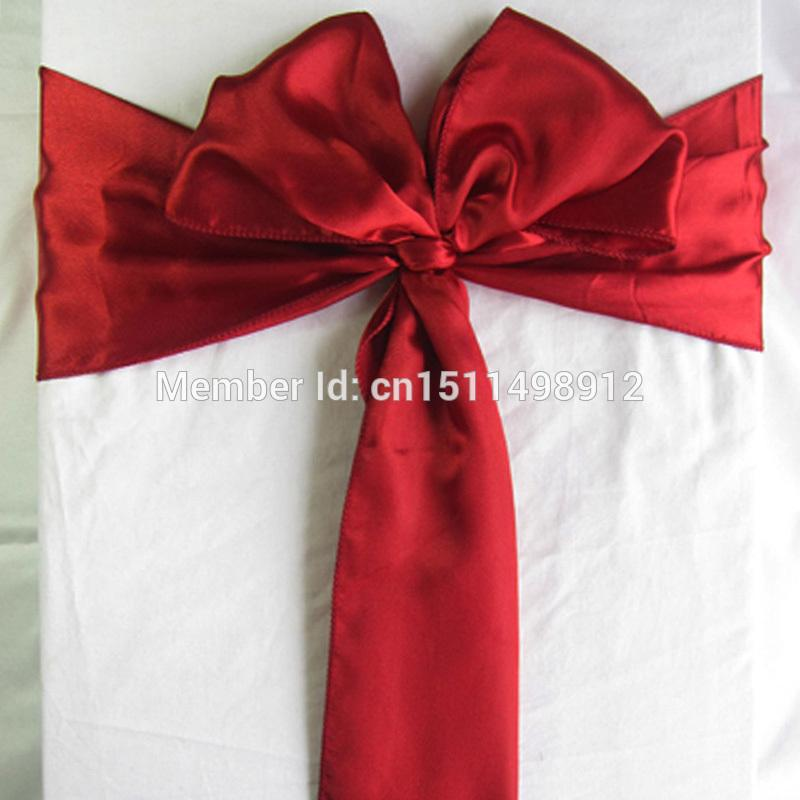 dark red chair sashes bloom baby high wholesale 6x108 satin sash bow bands for wedding party decorations supply dress belt sale from doost