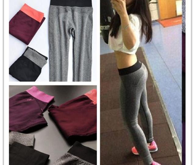 Women Fashion Tight Sportwear Nice Leggings High Elastic Thin Sports Yoga Pants Fitness Running Long Trousers Legging Wholesale Thigh Slimmer Shapewear