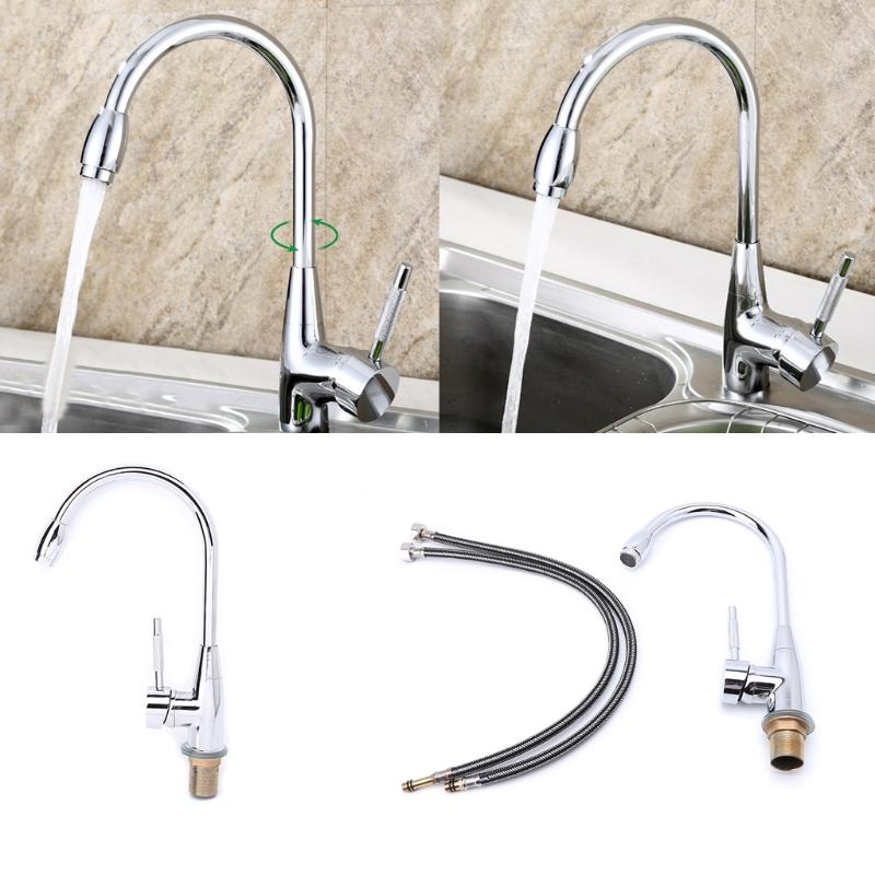 kitchen mixer spoons 360 degree swivel alloy cold and hot basin sink tap faucet with 2 pipes canada 2019 from oopp cad 18 35 dhgate