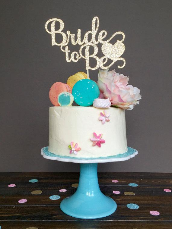 2019 Bridal Shower Cake Topper Bride To Be Cake Topper Bridal