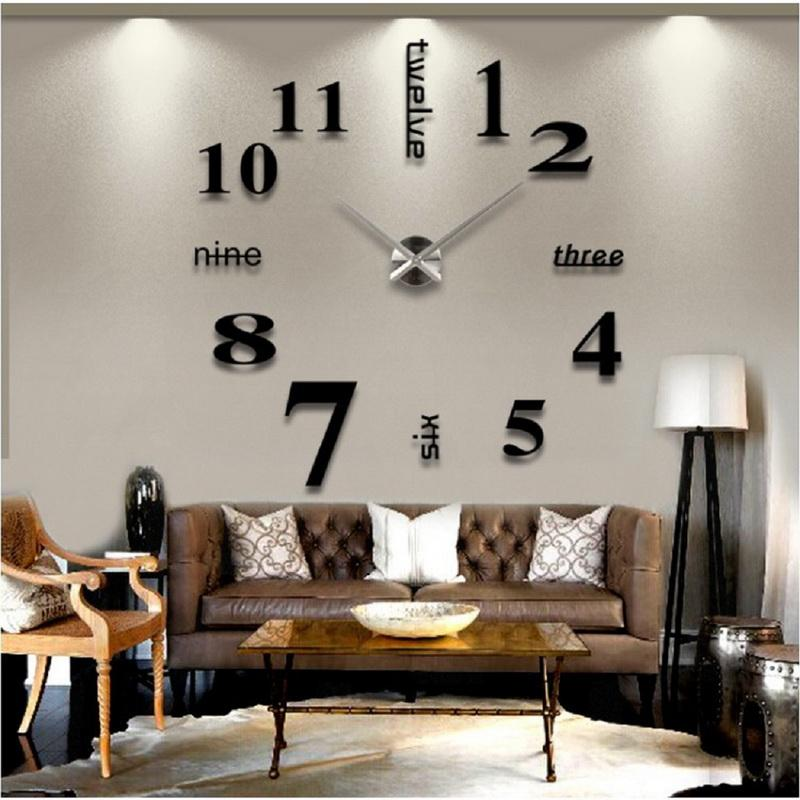 big wall clocks for living room color palette ideas new arrival clock rushed 3d acrylic mirror sticker diy decor 7 inch 8 from merryseason