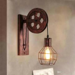 Living Room Wall Lamps Cheap Black Furniture 2019 Loft Retro Lanterns Fixtures Pulley Lamp Pendant Suspension Light Fitting Kitchen Bedroom Bra Sconce From Wyiyi