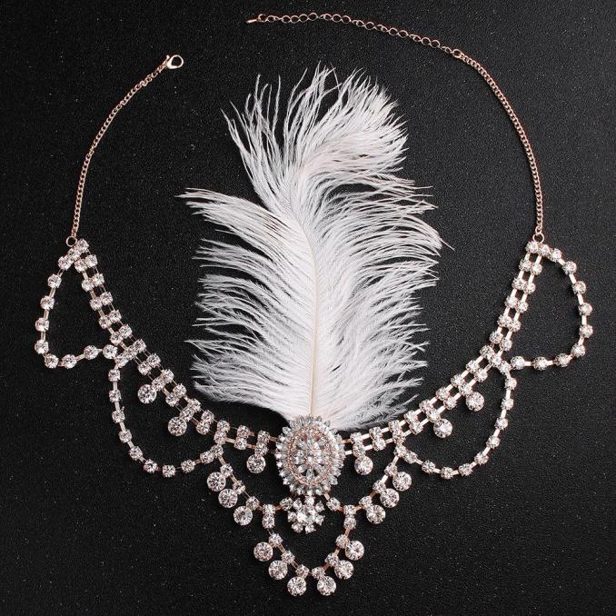 new indian ethnic style wedding headdress bohemian bridal hair band feather alloy with rhinestone banquet accessories headbands