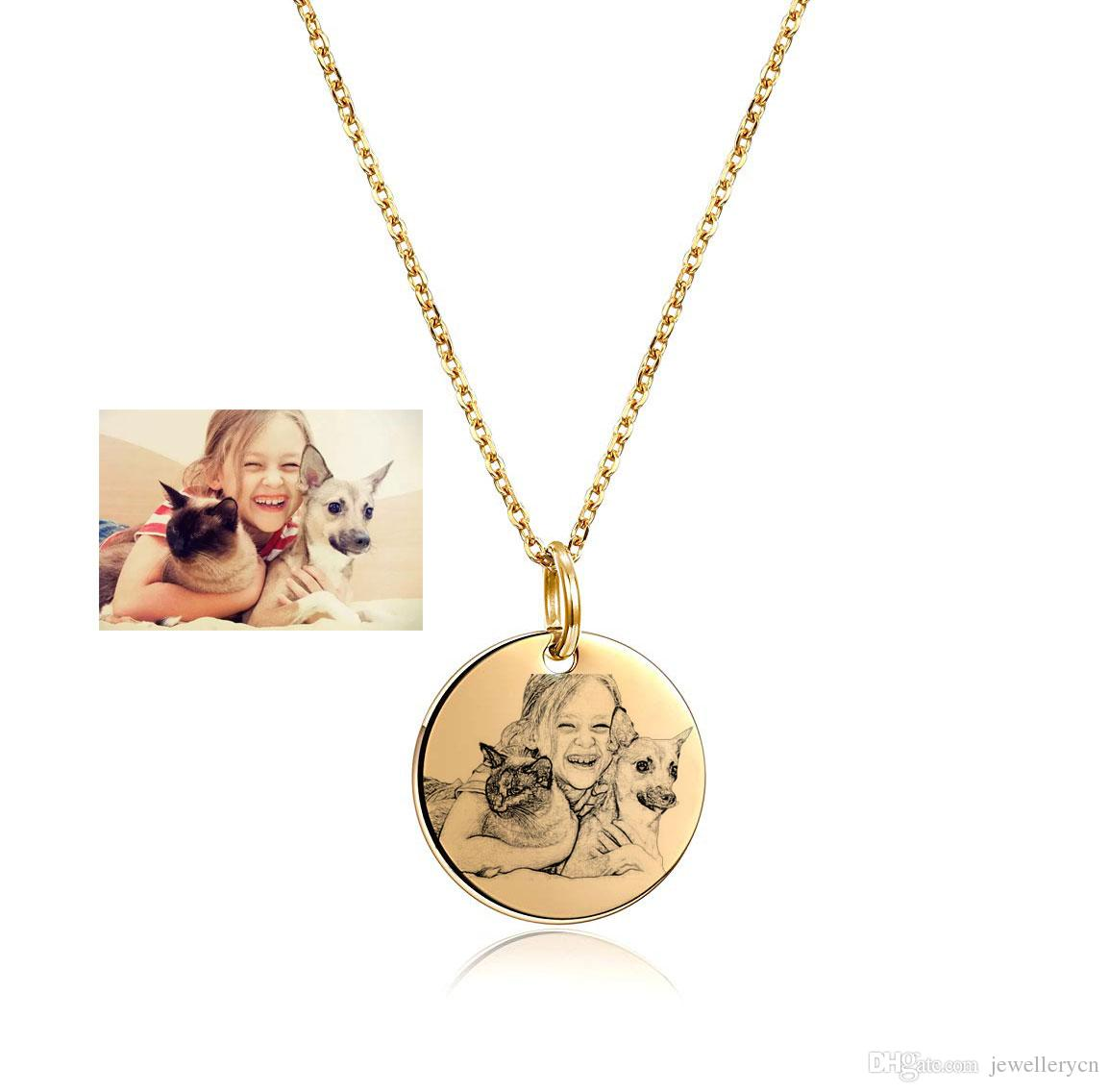 custom image engraved necklace