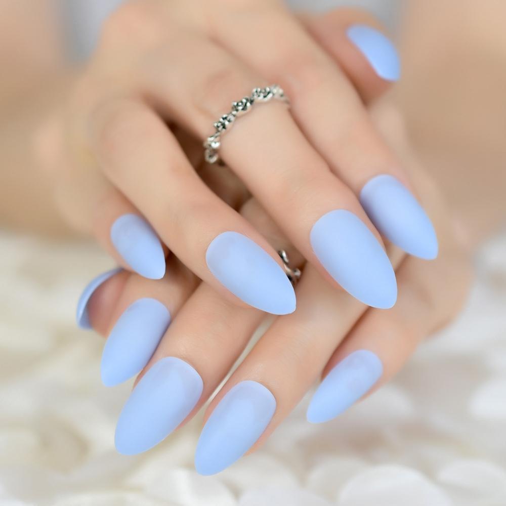 Diseños De Uñas Acrilicas Color Azul Cielo Decoración De Uñas