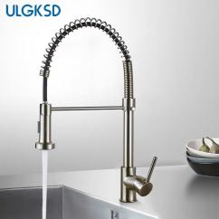 Wholesale Kitchen Faucets Cupboards Freestanding 2019 Faucet Pull Down Sprayer Nozzle Hot And Cold Water Mixer Tap Single Handle Brass Para Sink From Hongxuanstore007