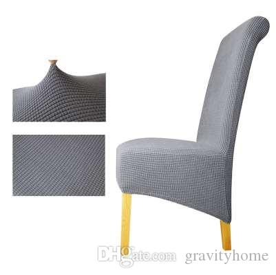 chair seat cover fabric hanging plan view polar fleece xl size long back plaid covers resterant hotel party banquet housse de chaise sofa slip dining
