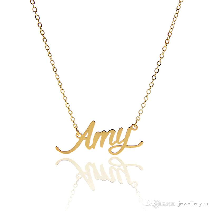 nameplate necklace for women