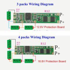 4s Bms Wiring Diagram 2006 F250 Fuse Panel Compre 4 Unids Lote 3s Bateria Placa Pcb De Proteccion Para 3 Paquetes 7 V 18650 Celda Litio Li Ion A 24 22 Del Seeyouseeme