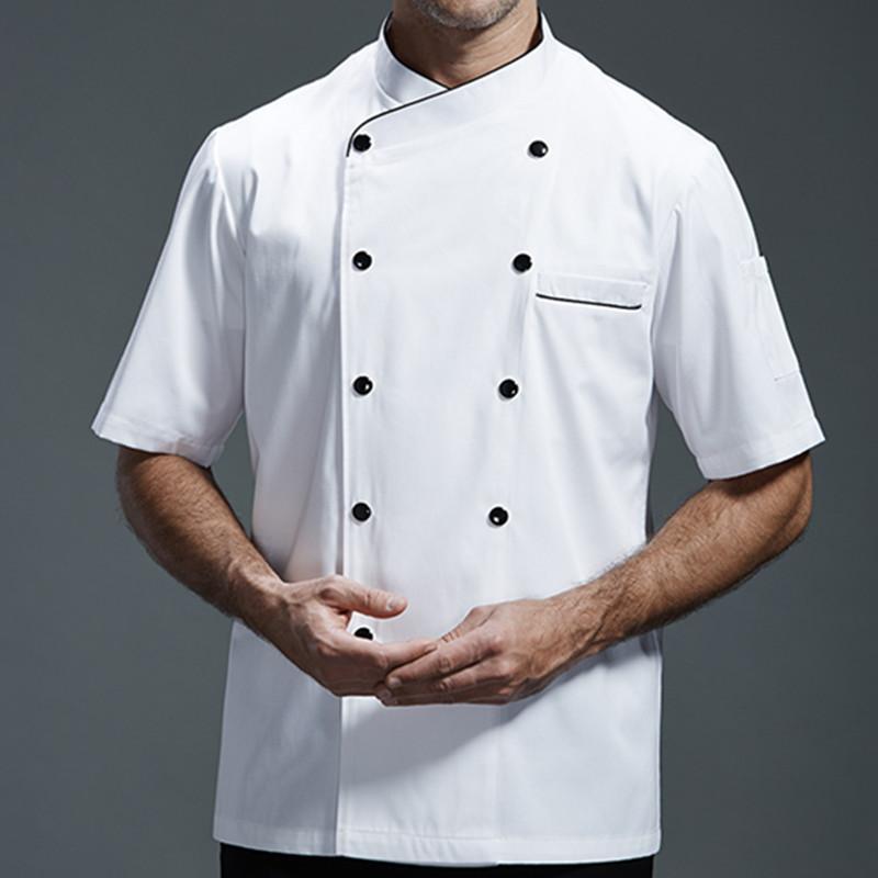 kitchen wear backsplash ideas on a budget white gray black short sleeve shirt hotel restaurant chef uniform barista bistro diner baker bar catering work b79 apron personalized