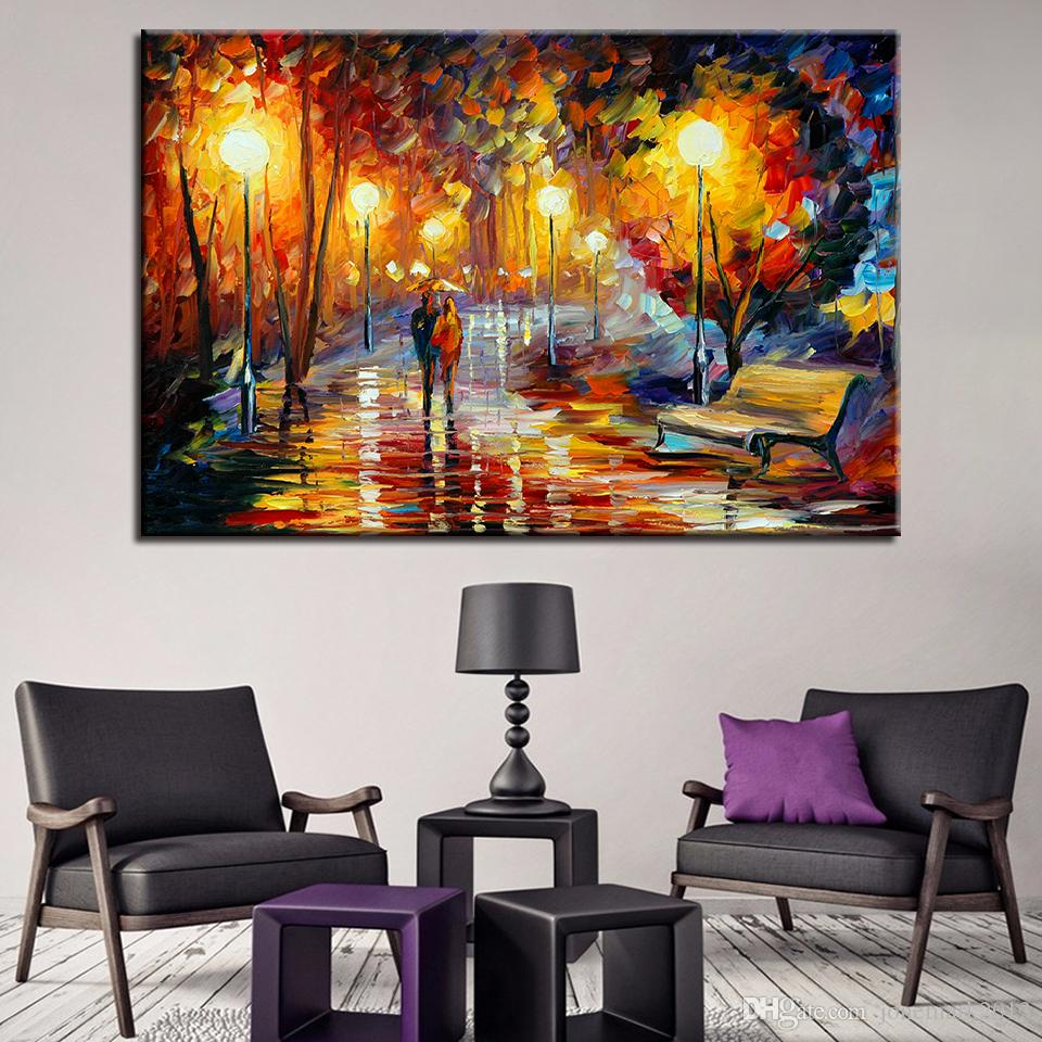 chair photo frame hd ikea kitchen table and chairs set 2019 canvas pictures prints wall art home decor pcs couple walking in the park paintings abstract night scene poster from jonemark2013