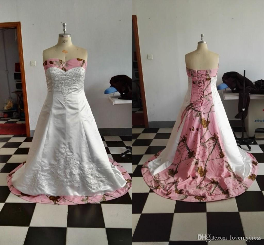 Old Fashioned Pink Camo Wedding Dresses Images - Colorful Wedding ...