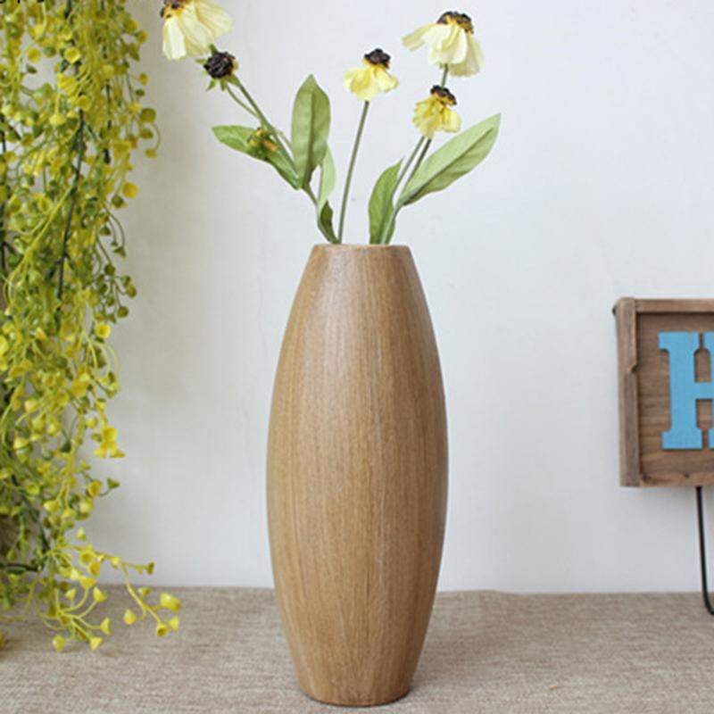 living room flowers contemporary decor wooden vase flower arrangement european retro wood bedroom coffee shop decorative home vases decoration from