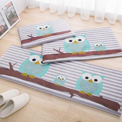 owl kitchen rugs pulls cartoon gift carpet mats anti slip floor mat modern home decor fish doormat bedroom bedside rug bath k119 best outdoor cushions lounge