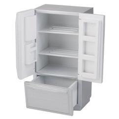 Kitchen Miniature Online Store Abwe Best Sale 1 12 Dollhouse Wooden Fridge Refrigerator Silver Furniture For Kids Deals From Babymom 20 89 Dhgate