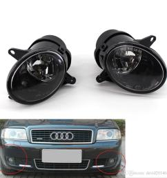 for audi a6 c5 2002 2003 2005 auto fog light lamp car front bumper grille driving lamps fog lights set kit 4b0941699c 4b0941700c canada 2019 from  [ 1000 x 1000 Pixel ]