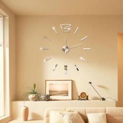 Big Wall Clocks For Living Room Flooring Ideas Open Kitchen And Hot Sale 3d Real Clock Home Decor Diy Reloj Mural Sticker Mirror Silent Quartz Watches Small Bathroom