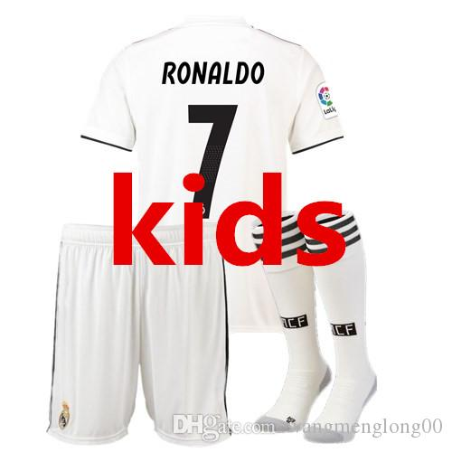 2021 Kids Real Madrid Set+ Socks Football Jersey 2018 19 ...