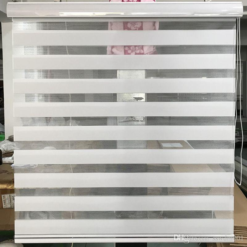 2019 Zebra Blinds Translucent Roller Blinds Shades Double