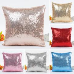 Black Glitter Chair Covers Giant Beanbag 40 40cm Mermaid Sequins Cushion Cover Throw Pillow Cases Cheap Red Sofa Pillows Best Hamburger