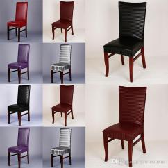 Chair Covers Leather Stool Cover Pu Stretchable Dining Seat Waterproof Dustproof Slipcovers Protectors For Hotel Restaurant Renting Cheap