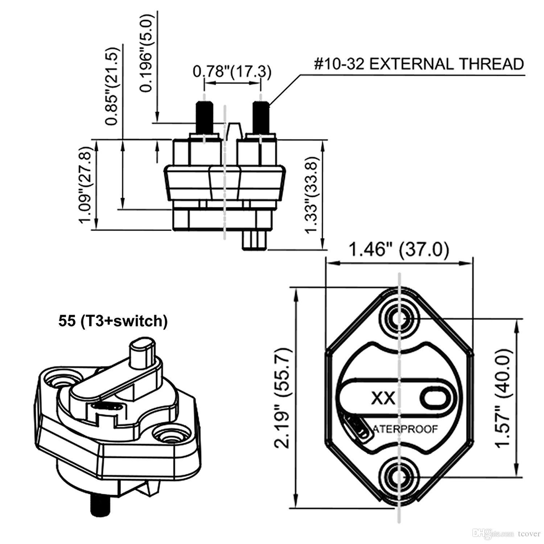 2021 Circuit Breaker,Auto Car Fuse Holder 40 Amp Circuit