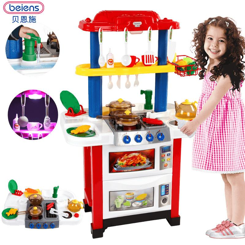 play kitchens for boys distressed black kitchen cabinets 2019 beiens brand toys children s set cooking toy simulation and girls pretend from fashion09 127 71 dhgate com