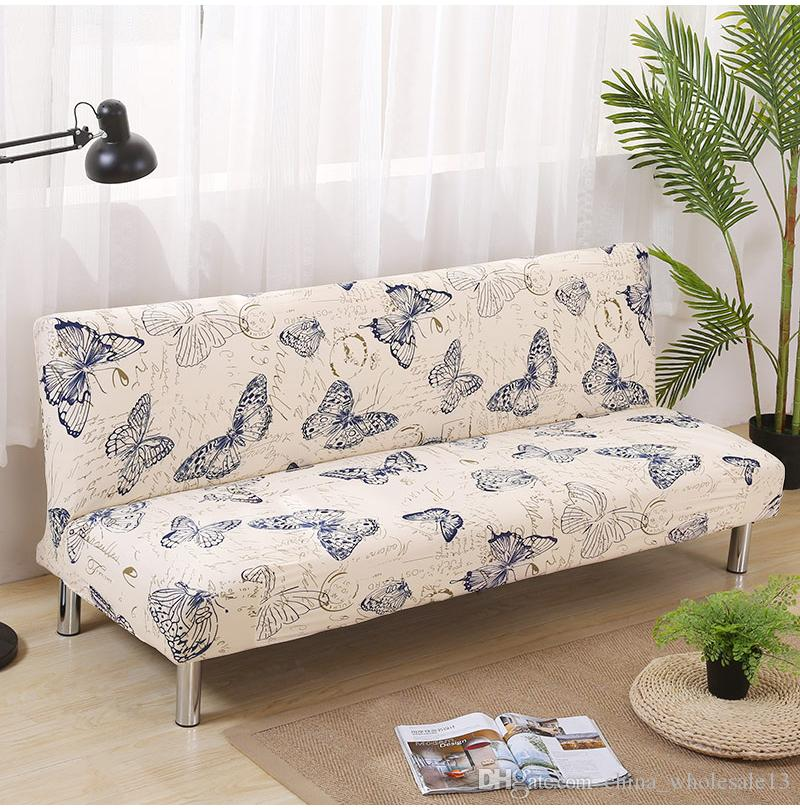 chair covers sofa portable tripod folding chairs printing butterfly bed cover seat slipcovers modern stretch cheap armless couch protector elastic futonaei 021 slipcover for dining