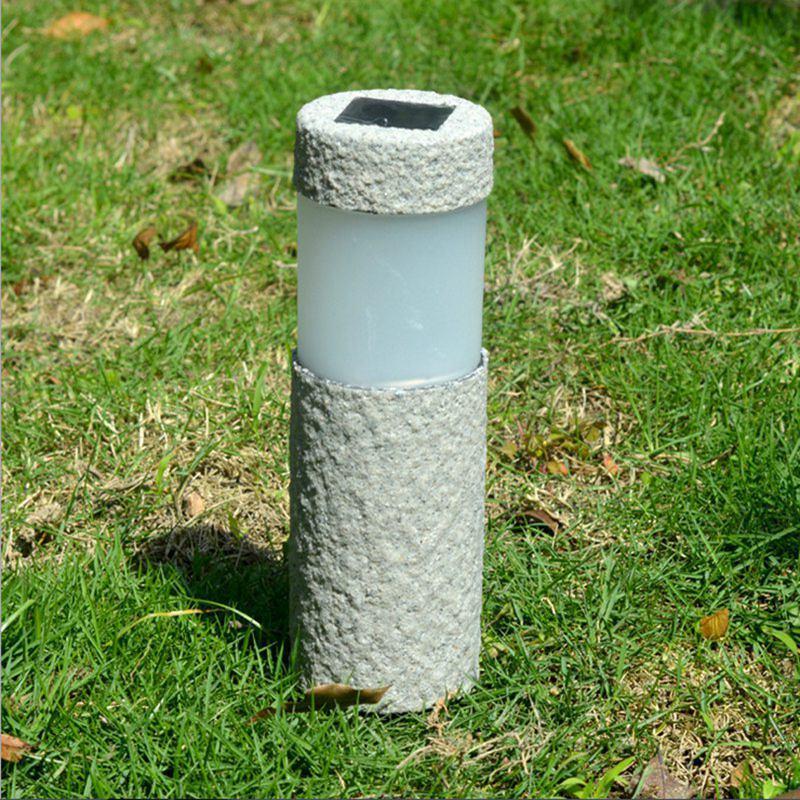 acheter pierre solaire de pilier blanc led lumieres solaires de jardin exterieur lampe de pelouse lumiere cour cour decoration lampe 5w de 376 89 du