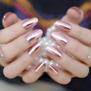 metallic mirror false nails fashion