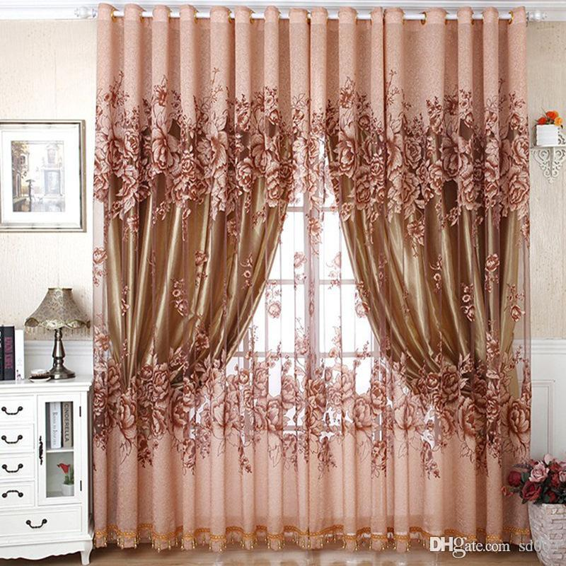 best drapes for living room rugs 2019 blackout window curtain good quality peony flowers curtains pastoral style bedroom decor home supplies 42 mr ii kk from sd003