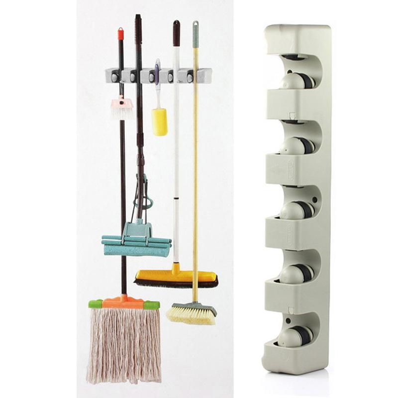 kitchen organizer floating island 2019 wall mounted 5 position shelf storage holder for mop brush broom mops hanger tool