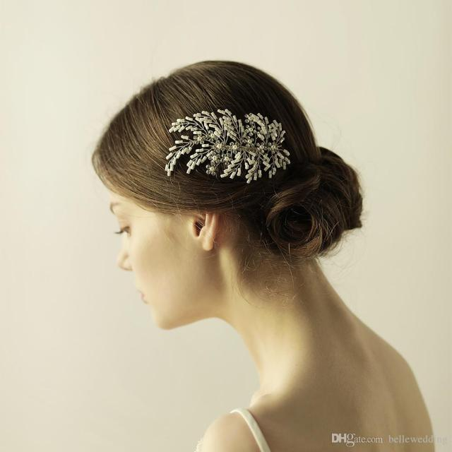 hair accessories bridal hair comb with rhinestones pearls beads bridal hair jewelry wedding headpieces for women bw-hp841