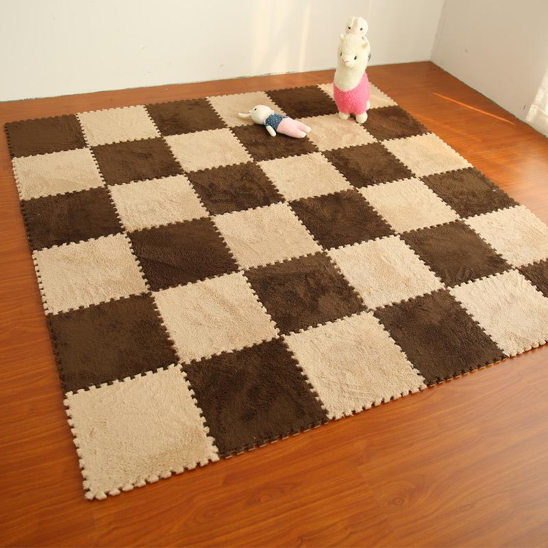 living room floor mats indian home interior design 30x30cm children foam carpet anti slip cushion carpets baby crawling pad bedroom puzzle mat tapetes shaw colors