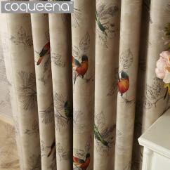 Country Curtains For Living Room Indian Furniture Vintage Birds Print Bedroom Cheap Home Designs Best Curtain Patterns