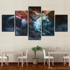 Framed Wall Art For Living Room Upholstered Stools 2019 Home Decor Posters Frame Pictures Abstract Glowing Horse Running Hd Modern Printed Painting On Canvas From Wallstickerworld