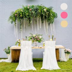 Folding Chair Sashes Cover Hire Farnborough Wedding Covers Chiffon Chiavari Soft Satin Fabric For Banquet Party Chairs Decoration Wcs01 Slipcovers
