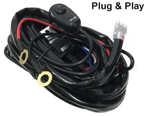 small resolution of wire relay harness kit with switch wiring loom harness kit with fuse relay for offroad led driving work light 12v 24v led van work lights led vehicle