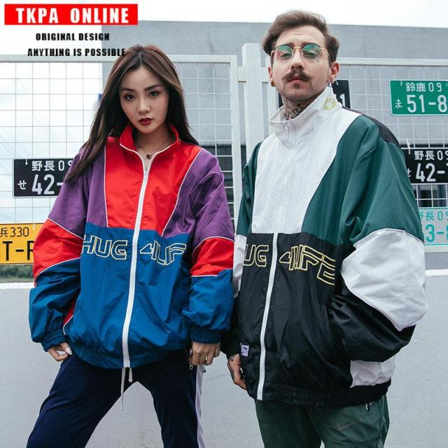 European And American Street Autumn Dress Splicing Hip Hop Style Hiphop Thin Couple Lovers Jacket Jacket Bomber Jackets Men Jackets From Eastfashionstore123