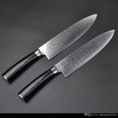 Damascus Kitchen Knives Sink Single Bowl Wholesale 67layers Vg10 Steel Chef 8 Inch Knife Japanese Micarta Handle Set