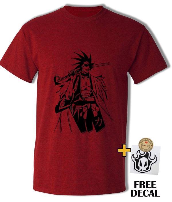 Captain Zaraki Kenpachi T Shirt Bleach Anime Japanese