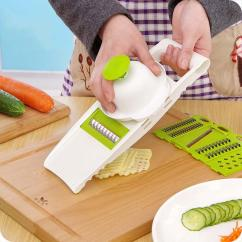 Kitchen Mandoline Cabinet Veneer Slicer Vegetables Cutter With 5 Stainless Steel Blade Carrot Grater Onion Cooking Tools Accessories 2019 From Hopestar168