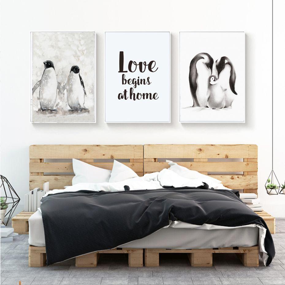 modern penguin family love