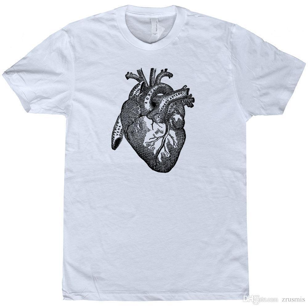 medium resolution of compre m s reciente 2017 heart t shirt medical heart diagram tee vintage science poster ilustraci n cool t shirt fashion a 12 08 del lijian82 dhgate com