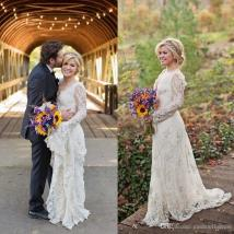 2018 Stunning Kelly Clarkson Country Wedding Dresses