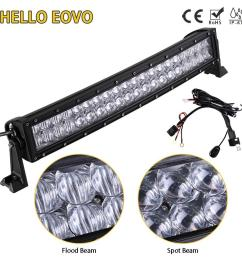 hello eovo 5d 22 inch curved led light bar for work driving offroad boat car tractor truck 4x4 suv atv with switch wiring kit led lighting source led lights  [ 1000 x 1000 Pixel ]